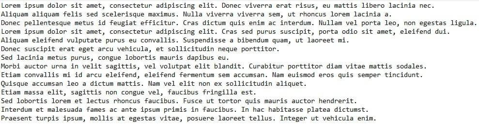 Long paragraphs
